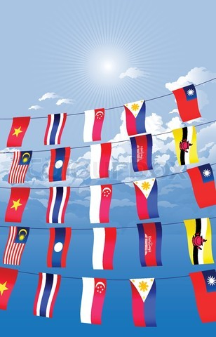 4705634-82069-asian-countries-decorated-and-hanging-the-asian-flags